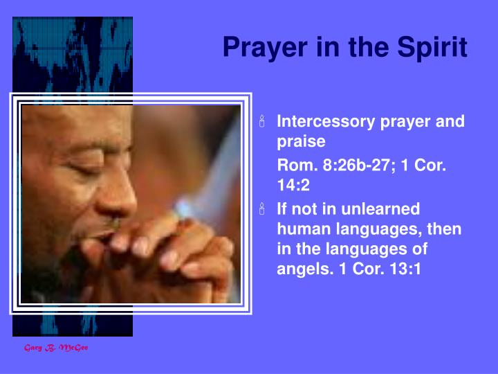 Prayer in the Spirit