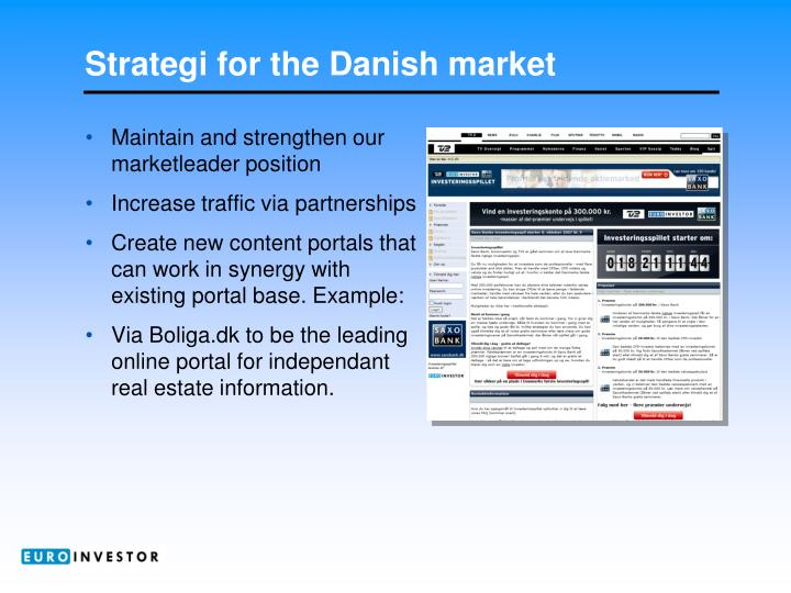 Strategi for the Danish market