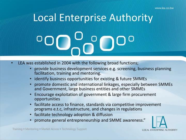 Local Enterprise Authority
