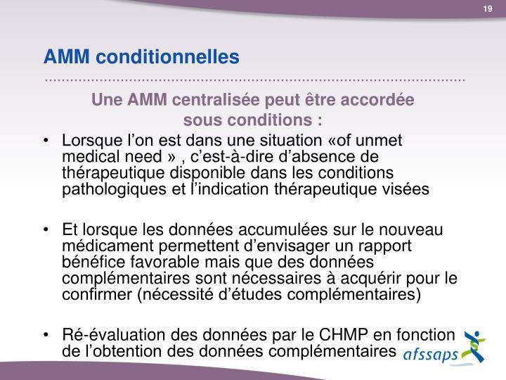 AMM conditionnelles