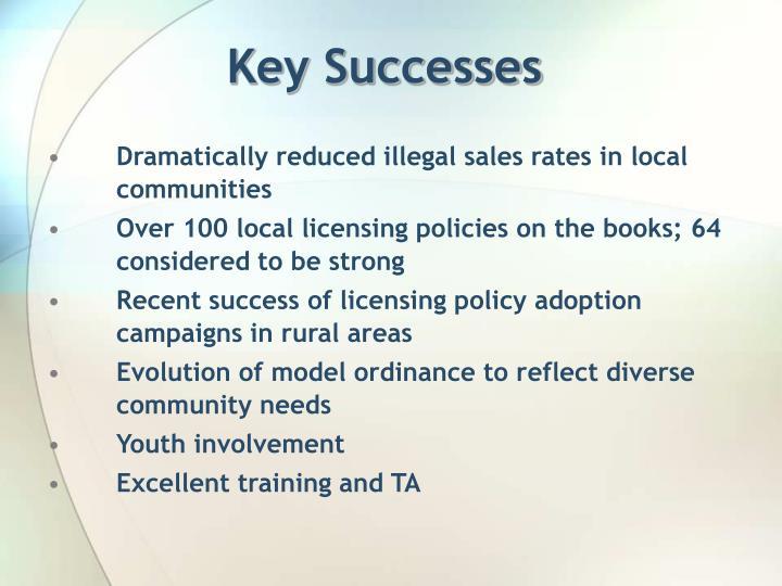 Key Successes