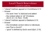local church benevolence a search for authority