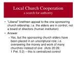 local church cooperation a search for authority