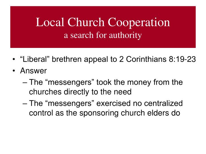 Local Church Cooperation