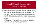 local church cooperation a search for authority4