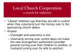local church cooperation a search for authority6