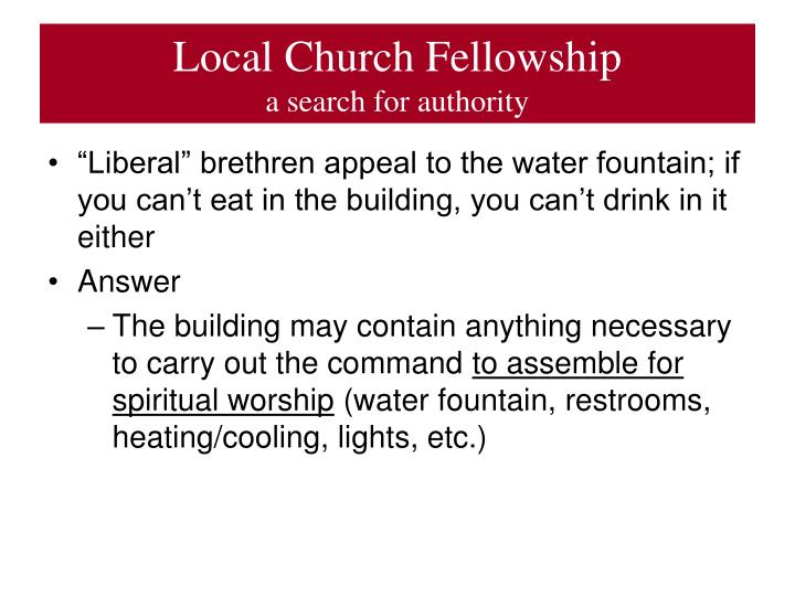 Local Church Fellowship