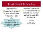local church fellowship