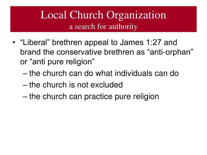 Local Church Organization