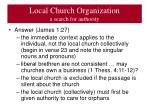 local church organization a search for authority3