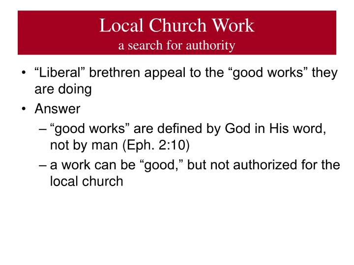 Local Church Work