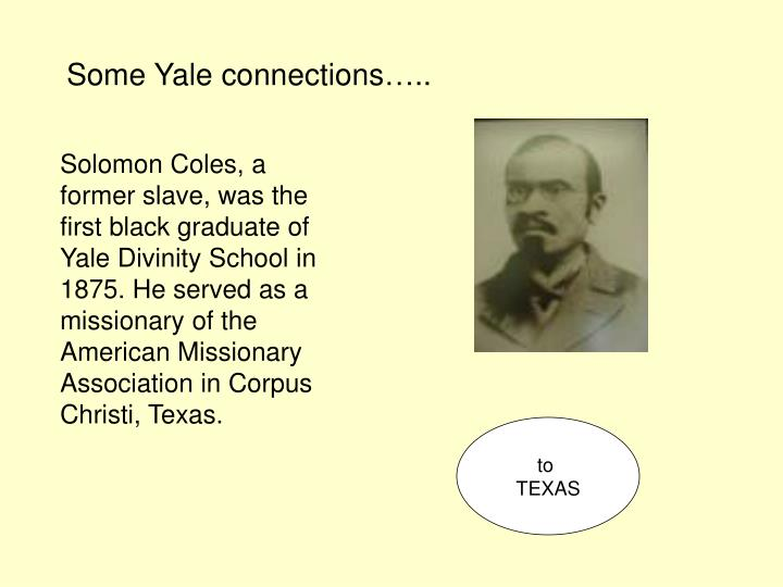 Some Yale connections…..