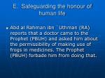 e safeguarding the honour of human life