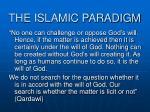 the islamic paradigm