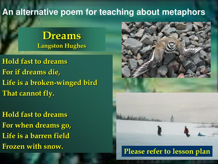 An alternative poem for teaching about metaphors