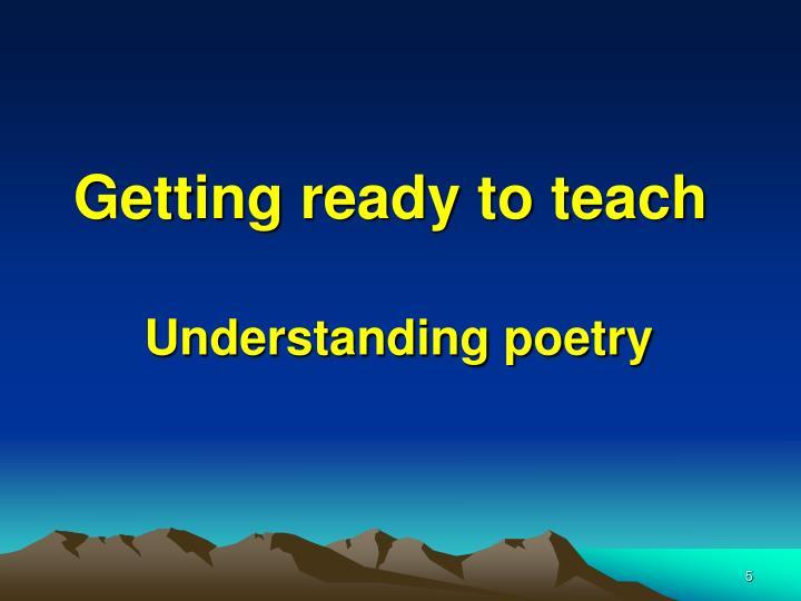 Getting ready to teach