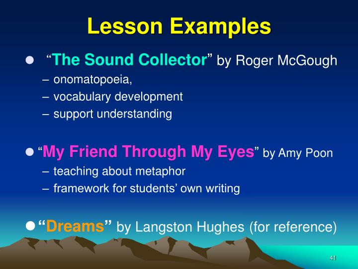 Lesson Examples