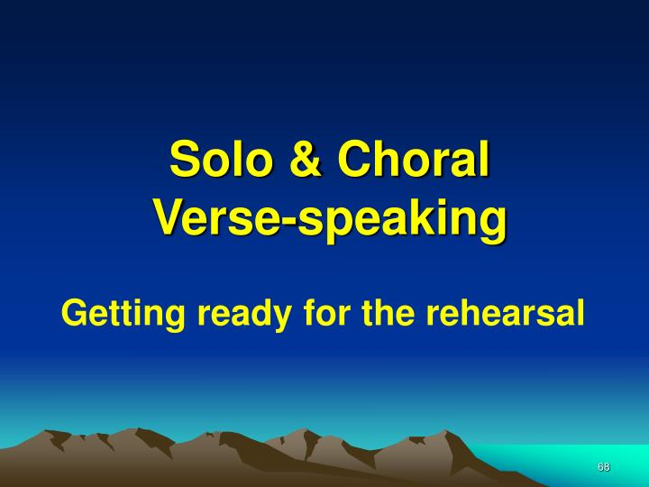 Solo & Choral