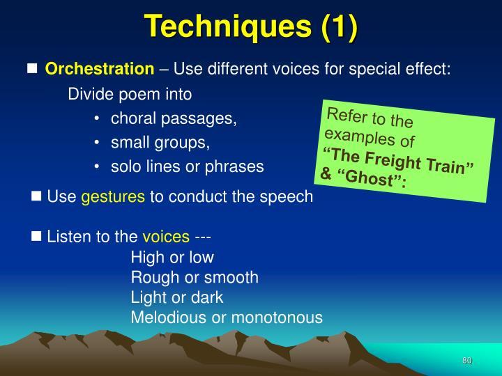 Techniques (1)