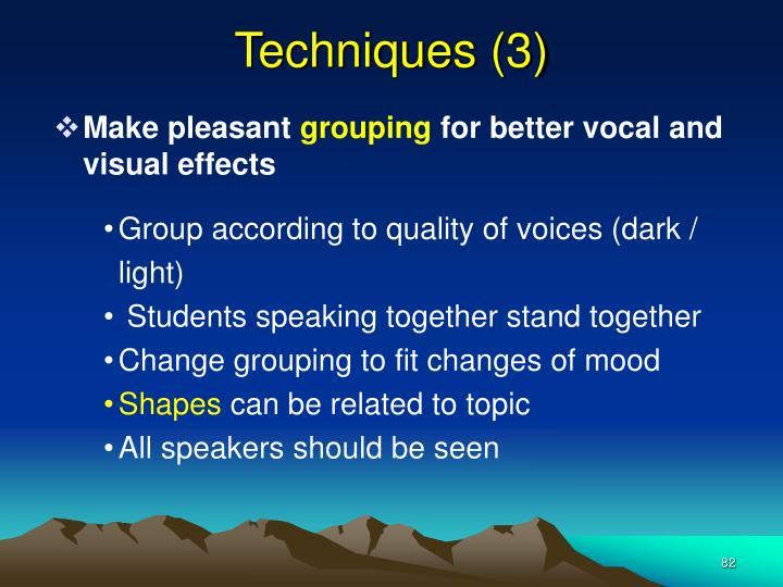Techniques (3)