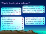 what s the rhyming scheme