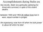 accomplishments during stalin era