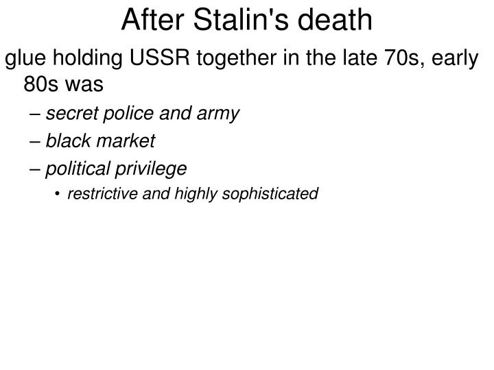 After Stalin's death