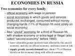 economies in russia