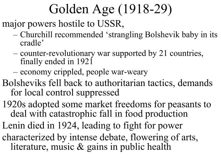 Golden Age (1918-29)
