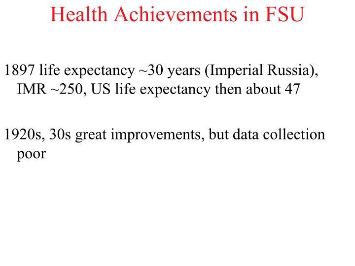 Health Achievements in FSU