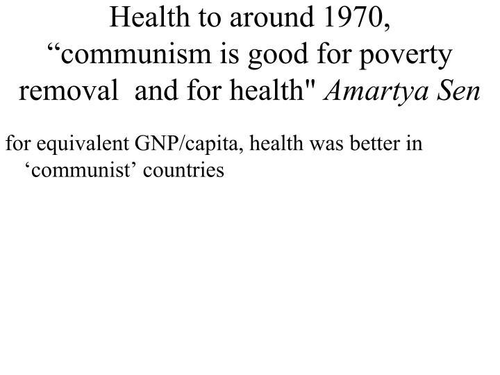 Health to around 1970,