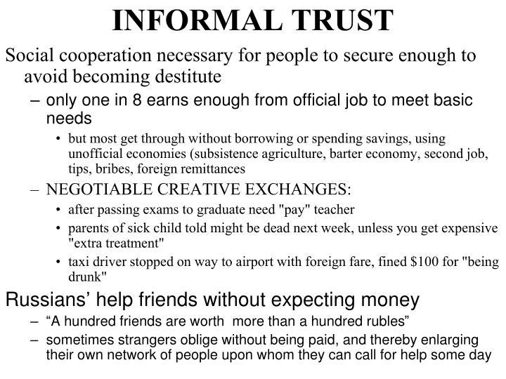INFORMAL TRUST
