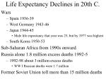 life expectancy declines in 20th c