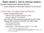 stalin death s led to intense elation