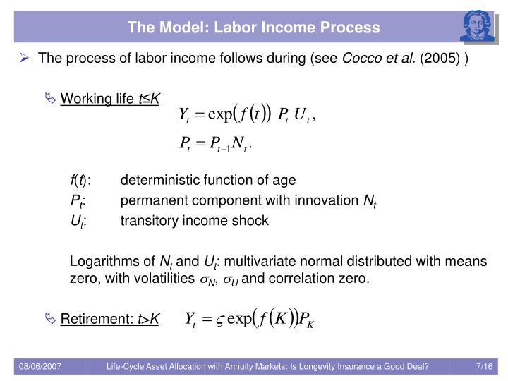 The Model: Labor Income Process