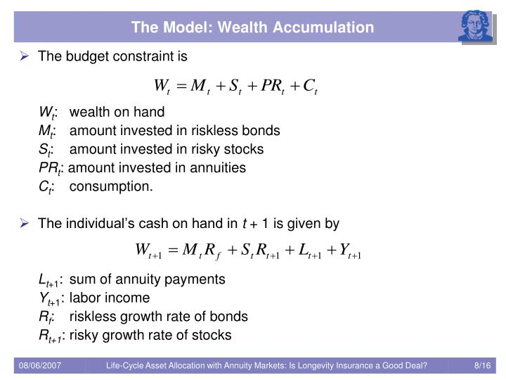 The Model: Wealth Accumulation