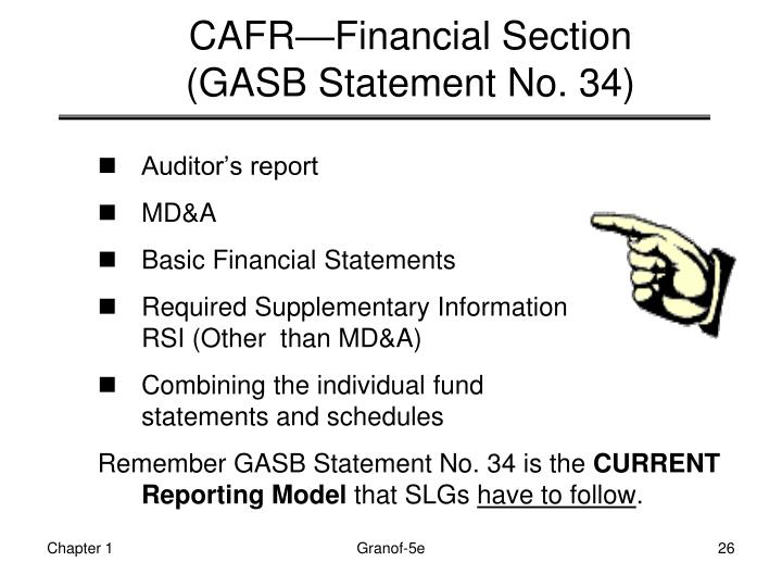 CAFR—Financial Section