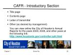 cafr introductory section