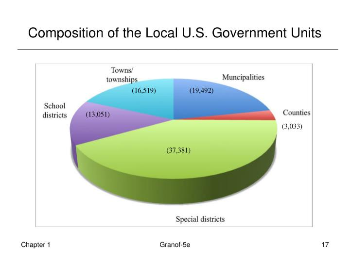 Composition of the Local U.S. Government Units
