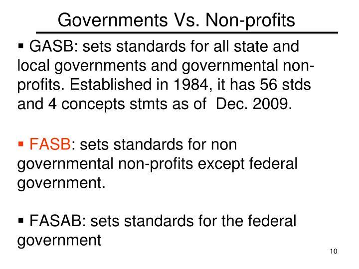Governments Vs. Non-profits