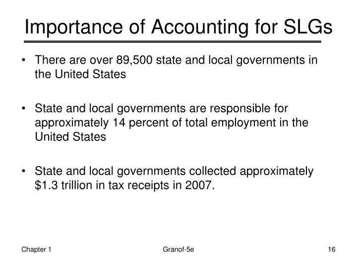 Importance of Accounting for SLGs