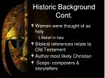 historic background cont