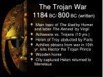 the trojan war 1184 bc 800 bc written