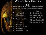 vocabulary part xi xiii