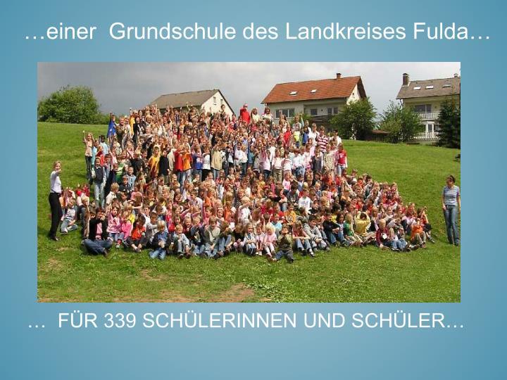 …einer  Grundschule des Landkreises Fulda…