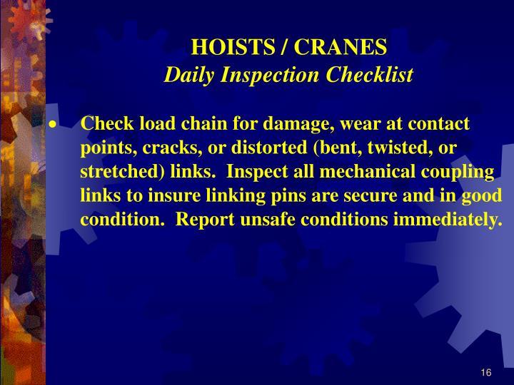 HOISTS / CRANES
