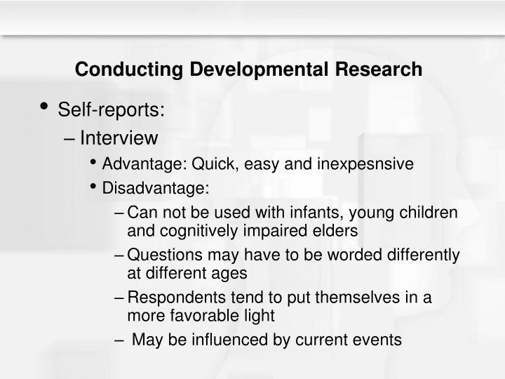Conducting Developmental Research