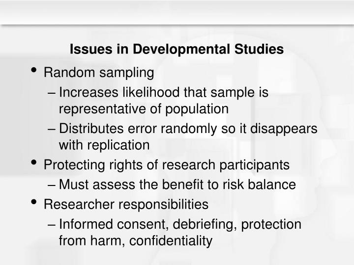 Issues in Developmental Studies