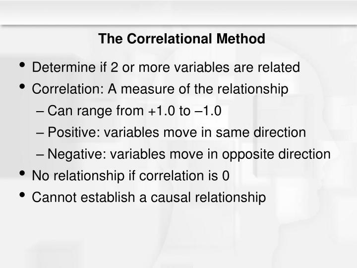 The Correlational Method