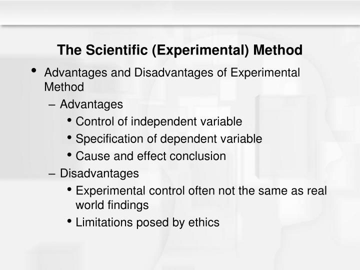 The Scientific (Experimental) Method